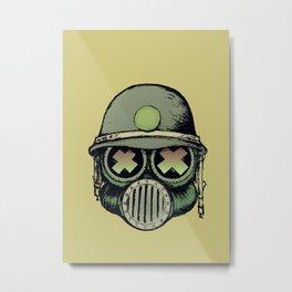 War Skull Metal Print