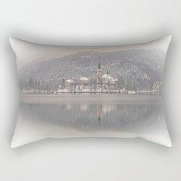 Wintry Bled Island Rectangular Pillow