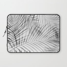 Black and White Tropical Palms Laptop Sleeve