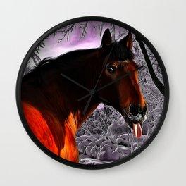 Funny Horse Pokes Out His Tongue Wall Clock