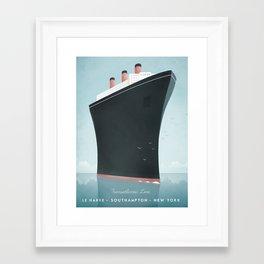 Vintage Travel Poster - Cruise Ship Framed Art Print