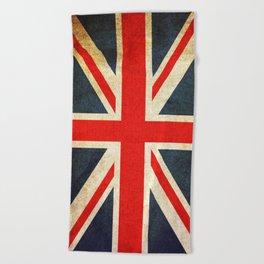 Vintage Union Jack British Flag Beach Towel