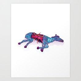 Zebra Carcass Art Print