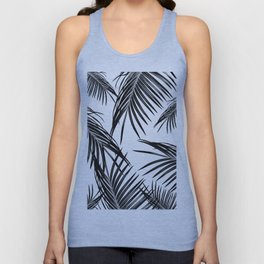Black Palm Leaves Dream #1 #tropical #decor #art #society6 Unisex Tank Top