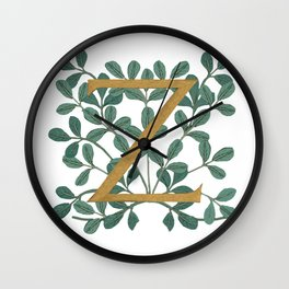 Forest Letter Z Lite 2020 Wall Clock