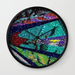 Peacock Mermaid Battlestar Galactica Abstract Wall Clock
