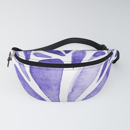 Watercolor artistic drops - electric blue Fanny Pack