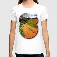 hiking T-shirts featuring Hiking trail through springtime nature by Patrick Jobst