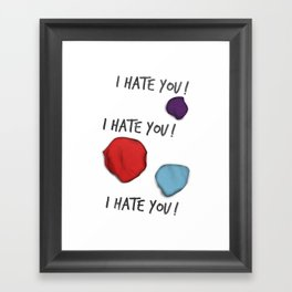 Dandy (I Hate You!) Framed Art Print
