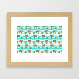 sloths in the air Framed Art Print