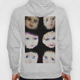 199 - Fast Faces abstract design black Hoody