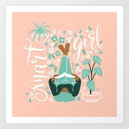 Smart Girl v3 Art Print