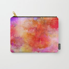 ink style of orange watercolour texture Carry-All Pouch