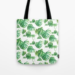 Topical Leaves Tote Bag