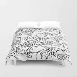 Givers and beggars Duvet Cover