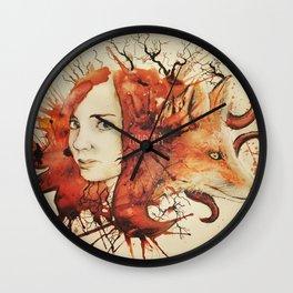 Doris & The Fox Wall Clock