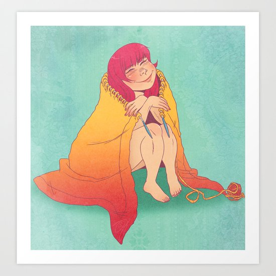 The Joy of Knitting Art Print