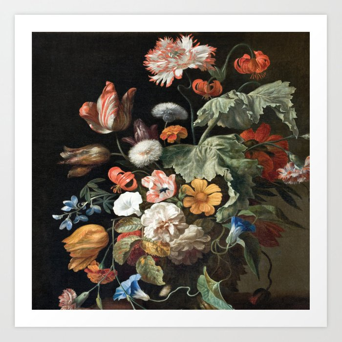 Bouquet of Baroque Flowers, shower curtain, Bathroom art, Bohemian, Home decor Art Print