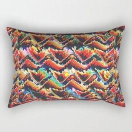 Colorful Geometric Motif Rectangular Pillow