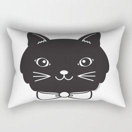 Dapper Black Kitty Cat Rectangular Pillow