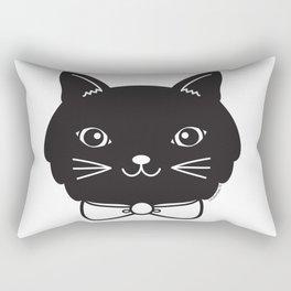 Dapper Black Kitty Cat Rectangular Pillow