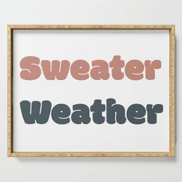 Sweater Weather Serving Tray