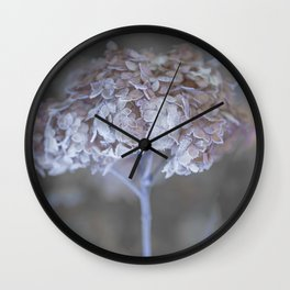 Frost Petals Of Hydrangea #decor buyart #society6 Wall Clock