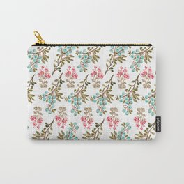 Colorful berries and Flowers Nature Pattern Carry-All Pouch