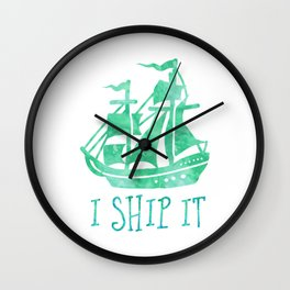 I Ship It - Watercolour Wall Clock