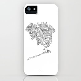 Queens - Hand Lettered Map iPhone Case