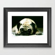 PUG POWER OUTAGE Framed Art Print