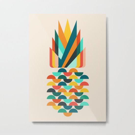 Groovy Pineapple Metal Print