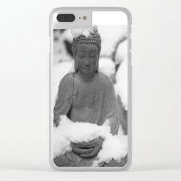 Buddha in Himalaya Clear iPhone Case