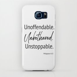 Unoffendable. Unbothered. Unstoppable - Phillipians 4:13 iPhone Case