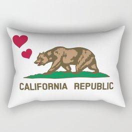 California Republic Bear with Hearts Rectangular Pillow