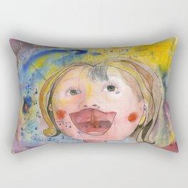 I feel happy Rectangular Pillow
