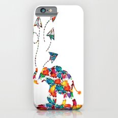 Baby elephant with paper planes Slim Case iPhone 6s
