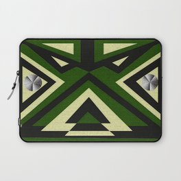 Black Green N Gold Laptop Sleeve