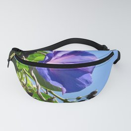 Purple Morning Glory Fanny Pack