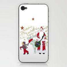 A French Script Christmas iPhone & iPod Skin