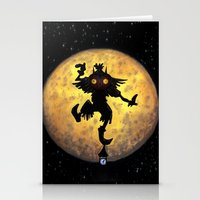 majora Stationery Cards featuring majora mask by neutrone