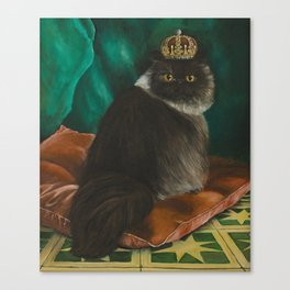 DONETE, A FANCY CHOCOLATE PERSIAN CAT Canvas Print