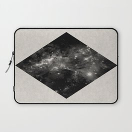 Space Diamond - Abstract, geometric space scene in black and white Laptop Sleeve