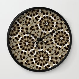 Fabric Pattern Study in Turkish Coffee Culture Wall Clock
