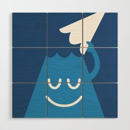 A Friendly Mountain Greeting Wood Wall Art