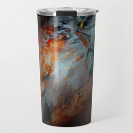 Abstract Barred Owl Travel Mug