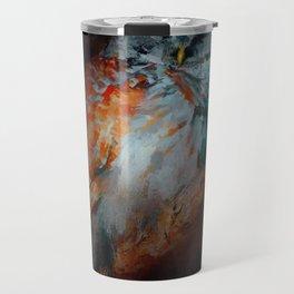 Abstract Barred Owl Travel Mug