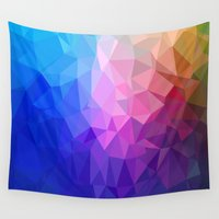 ice Wall Tapestries featuring Ice by Tony Vazquez