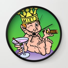 Mirthful Relaxing With Cigar & Martini Wall Clock