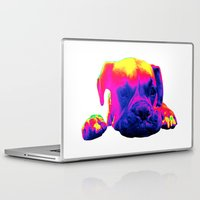 boxer Laptop & iPad Skins featuring Boxer by Ty McKie Creations